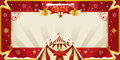 Fantastic christmas circus invitation a greeting card for enjoy Royalty Free Stock Photos