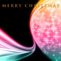 Fantastic Christmas wave design with glowing stars Royalty Free Stock Images