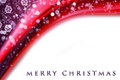 Fantastic Christmas wave design with snowflakes Stock Photo