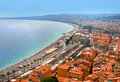 Fantastic cityscape of Nice, France Royalty Free Stock Photos