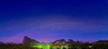 Fantastic cloud layer over mountain before sunrise Royalty Free Stock Photo