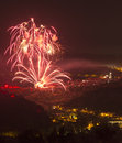 Fantastic colorful fireworks veliko tarnovo Royalty Free Stock Photos