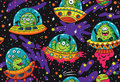 Fantastic creatures monsters seamless pattern