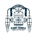 Fantastic flying machine Royalty Free Stock Photo