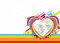 Fantastic heart design background Royalty Free Stock Image