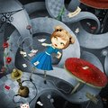 Fantastic illustration Wonderland Royalty Free Stock Photo