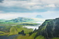 Fantastic landscape with view of the hills and mountains Royalty Free Stock Photo