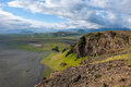 Fantastic landscape with view to the hills and mountains, Iceland Royalty Free Stock Photo