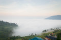 Fantastic mist in the morning Royalty Free Stock Photo