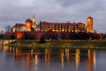 Fantastic night Krakow. The Royal Wawel Castle in Poland