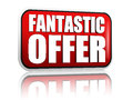 Fantastic offer red banner Royalty Free Stock Photos