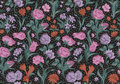 Fantastic vector seamless vintage floral pattern. Stock Images