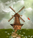 Fantastic windmill Royalty Free Stock Images