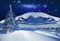 Fantastic Winter Starlight Night