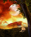 Fantasy background for your artistic creations and or projects Royalty Free Stock Photos