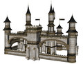 Fantasy castle d rendered illustration of on white background isolated Stock Photo