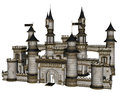 Fantasy castle d rendered illustration of on white background isolated Royalty Free Stock Photo