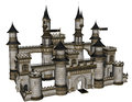 Fantasy castle d rendered illustration of on white background isolated Stock Image