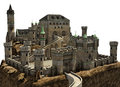 Fantasy castle on a hill Royalty Free Stock Photo