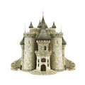 Fantasy castle isolated on the white background Royalty Free Stock Images