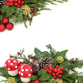 Fantasy Christmas Border Royalty Free Stock Photo