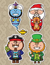 Fantasy collection vector illustrations of funny characters from children books Stock Image