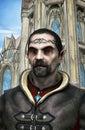 Fantasy dark elf lord d render illustration Royalty Free Stock Photos