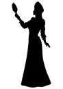 Fantasy fabled princess silhouette