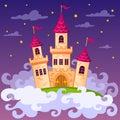 Fantasy fairy tale castle in clouds