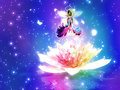 Fantasy floral fairy colorful glowing and flower background Stock Images
