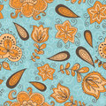 Fantasy floral seamless pattern Royalty Free Stock Images