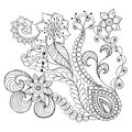 Fantasy flowers coloring page.