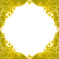 Fantasy golden flowers framework Royalty Free Stock Images