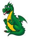 Fantasy green dragon Royalty Free Stock Photo