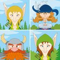 Fantasy heroes, avatar, set Royalty Free Stock Photos