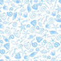 Fantasy marine seamless pattern Stock Photo