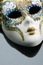 Fantasy mask gray background Stock Photography