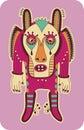 Fantasy monster personage original modern cute ornate doodle Stock Images