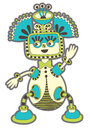Fantasy monster personage original modern cute ornate doodle Stock Photography