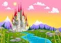 Fantasy Mountain Landscape Wit...