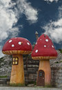 Fantasy mushroom houses Royalty Free Stock Images