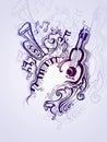 Fantasy musical illustration.