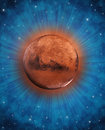 Fantasy planet in space Stock Images