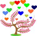 Fantasy sakura love tree amazing with high quality and resolution Royalty Free Stock Image