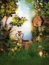 Fantasy scenario in the Garden Stock Images