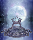 Fantasy serpent throne Stock Photography