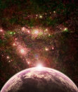 Fantasy space scene Royalty Free Stock Image