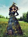 Fantasy spring woman