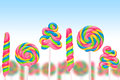 Fantasy sweet candy land with lollies Royalty Free Stock Photo