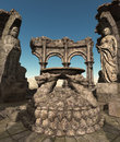 Fantasy temple ruins Royalty Free Stock Photos